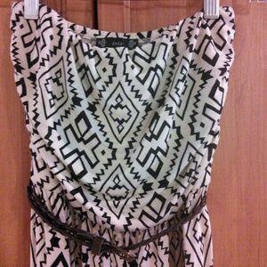 Black & Cream Maxi Dress
